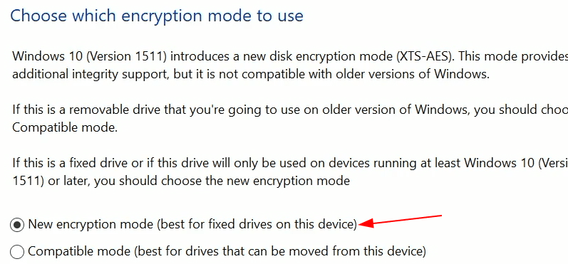 Encryption Type