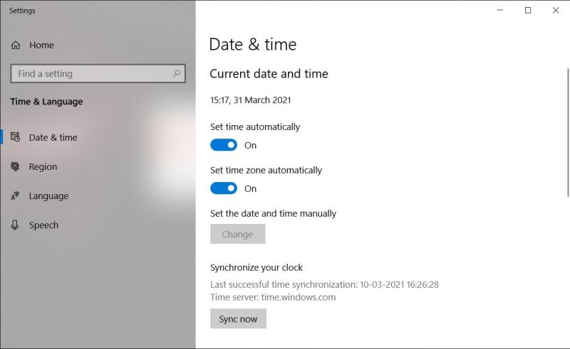 set time windows