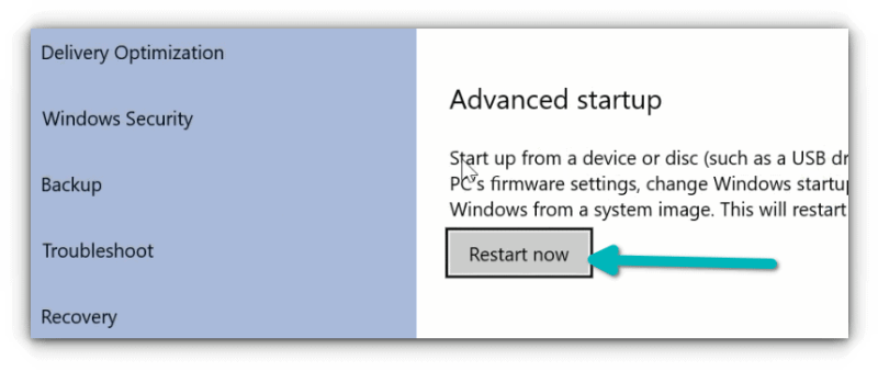 access uefi settings from windows