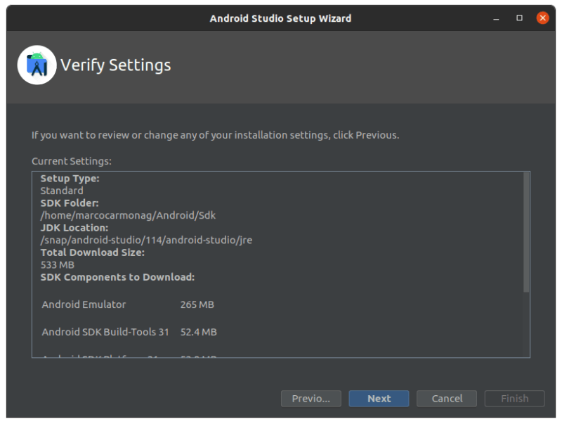 Setting up Android Studio