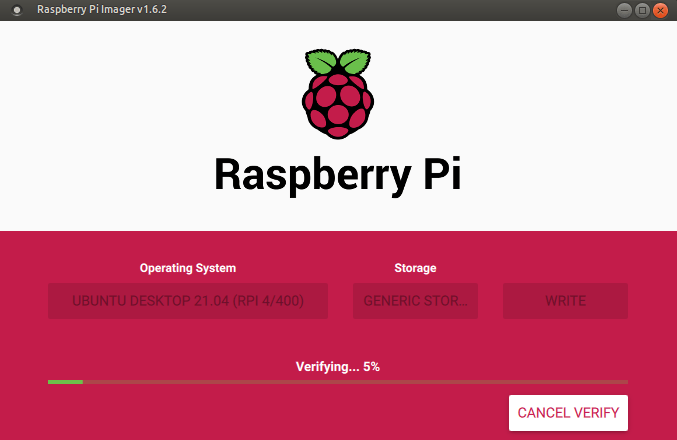 pi imager verifying changes
