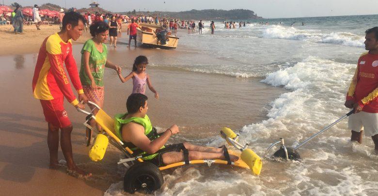 Wheelchair Users Enjoy an Accessible Beach Experience in Goa
