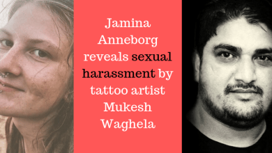 Photo of Jamina Anneborg reveals sexual harassment by tattoo artist Mukesh Waghela