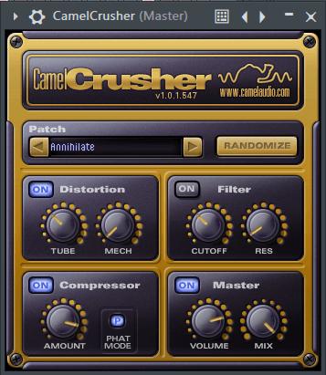 CamelCrusher Distortion Plugin