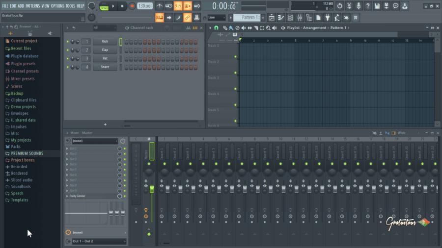 A new FL Studio project