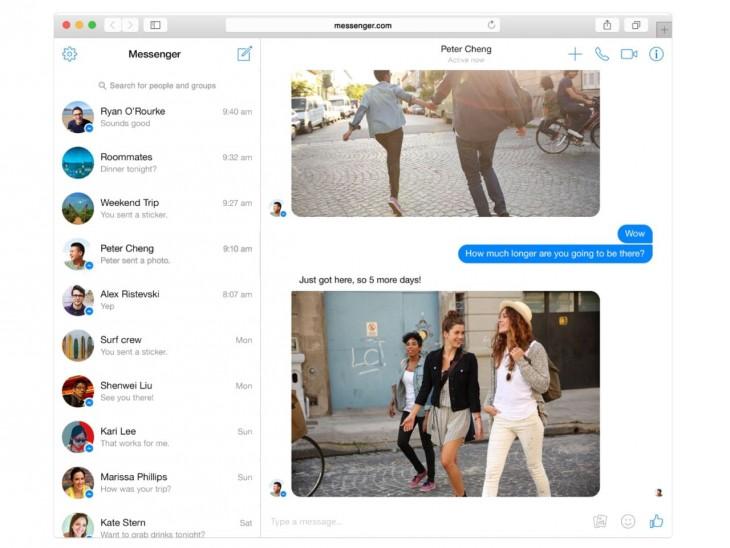 Facebook lanson shërbimn Messenger edhe në ueb1