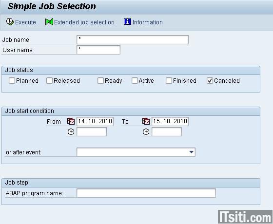 SM37: Simple Job Selection
