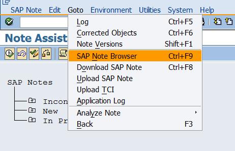 How to Reset (Undo / Revert) SAP Note