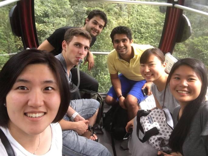 Our group on day 2! Helen, Darian, Thomas, Mahimna, Kanaha and me