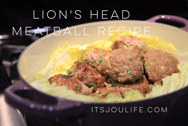 Lion's Head Meatball Recipe // itsjoulife.com