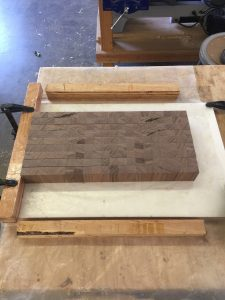 End-grain glue-up via It's Jou Life blog https://wp.me/p7RBMP-Vs