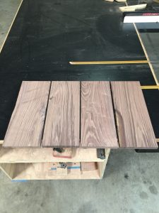 Single board cut in to more manageable pieces for jointing and planing via It's Jou Life blog https://wp.me/p7RBMP-Vs