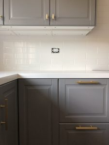 Subway Tiling Kitchen on It's Jou Life blog via https://wp.me/p7RBMP-1hZ