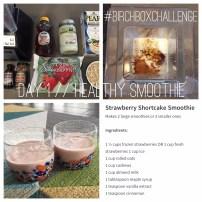 day 1 #birchboxchallenge // strawberry shortcake smoothie for bfast via It's Jou Life blog https://itsjoulife.wordpress.com/?p=1025