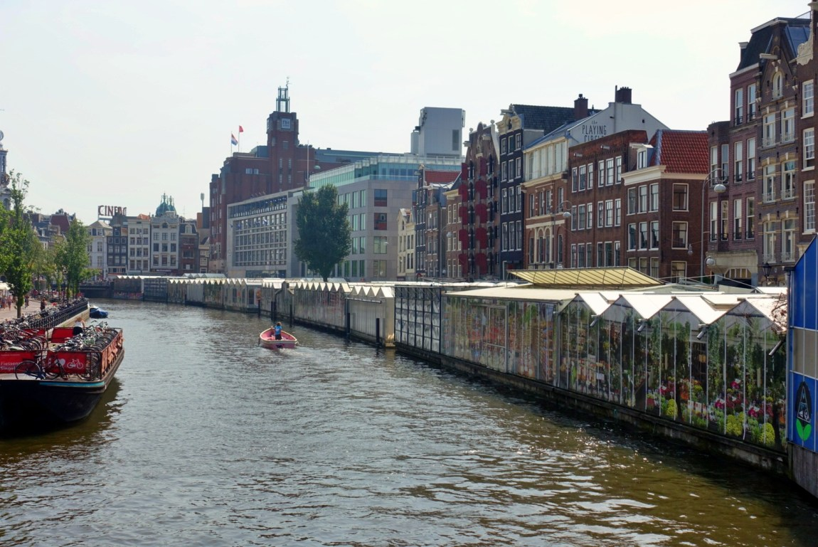Floating flower market as seen from the canal