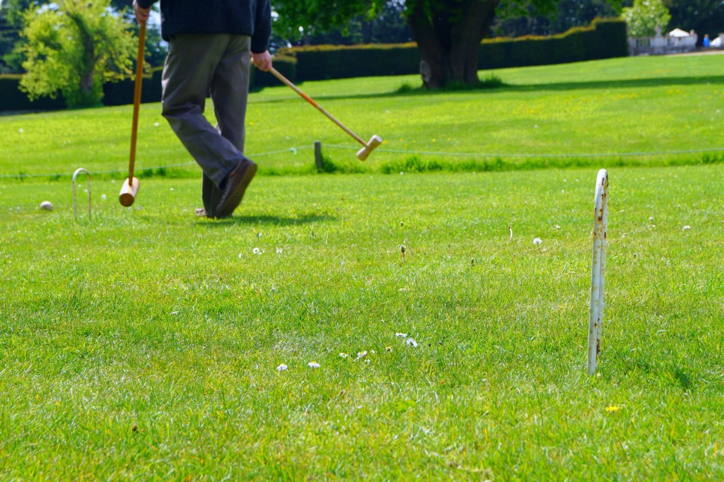 Croquet on the lawn of Luton Hoo