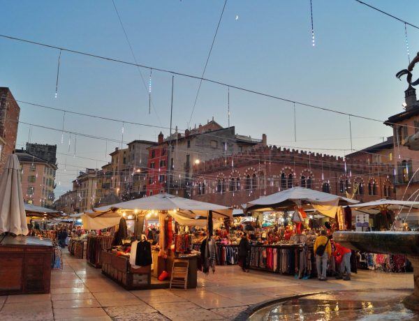 Christmas market in Piazza delle Erbe, Verona