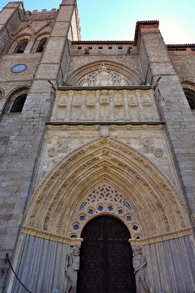 Avila cathedral entrance