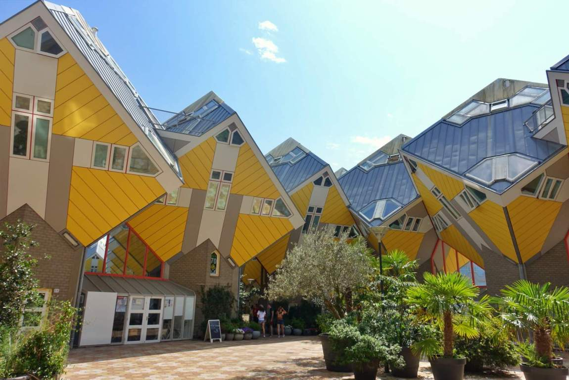 Cube houses and garden, Rotterdam