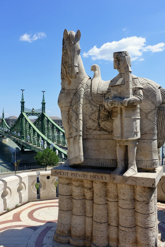 Statue and Liberty Bridge, Budapest