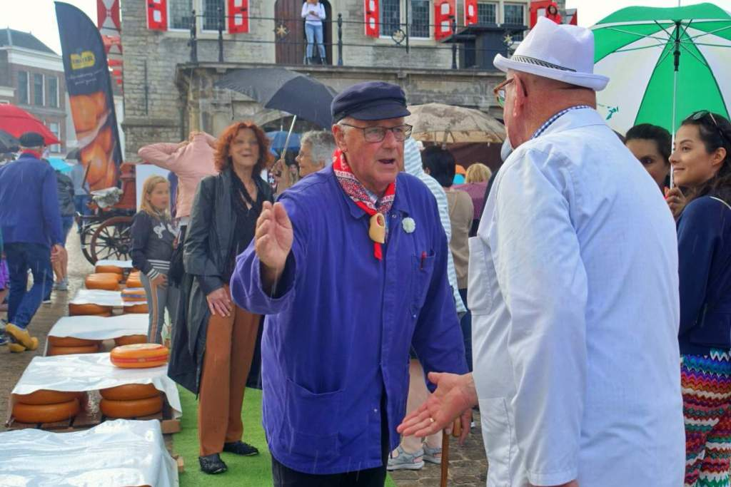 Market traders at Gouda Cheese Market