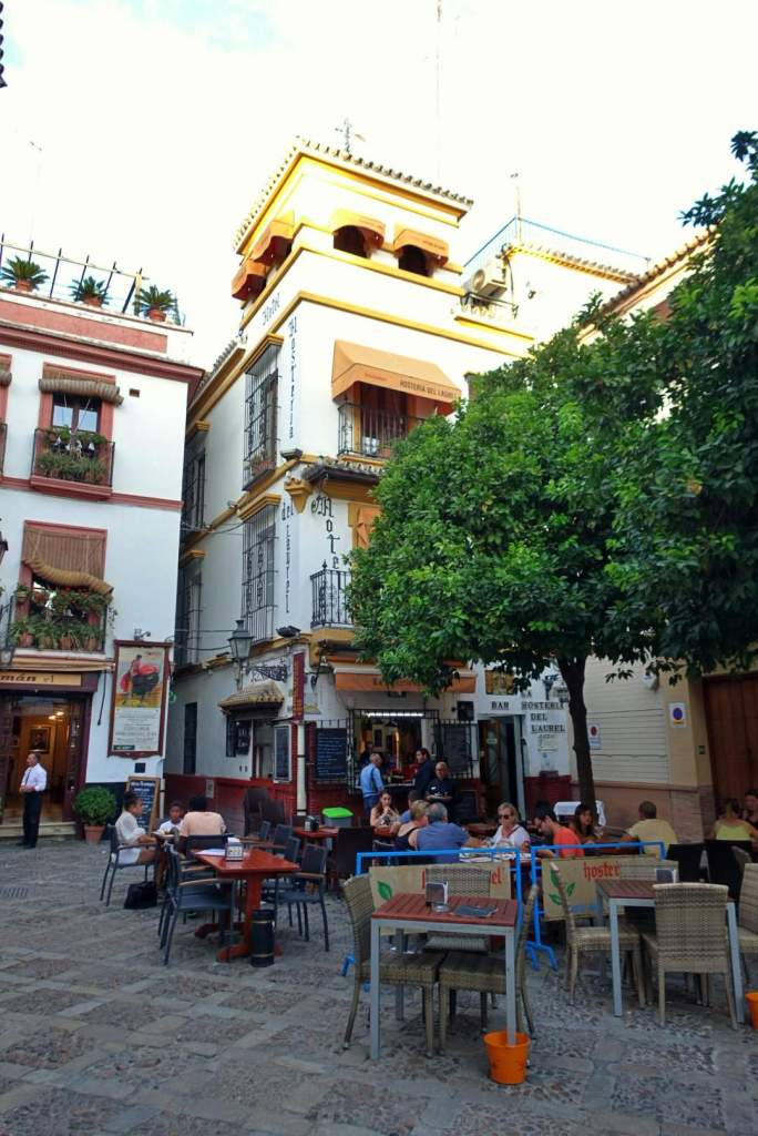 Square in Santa Cruz, Seville