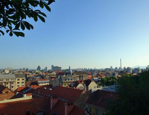 Sunset view from Strossmayerovo setaliste, Zagreb