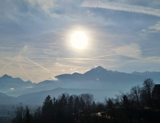 Innsbruck sun above the mountains 2