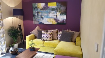 21st Century Cottage - Lounge - Yello Manhattan Sofa with chaise by Raft
