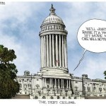 Capital Building's Debt Ceiling Cartoon