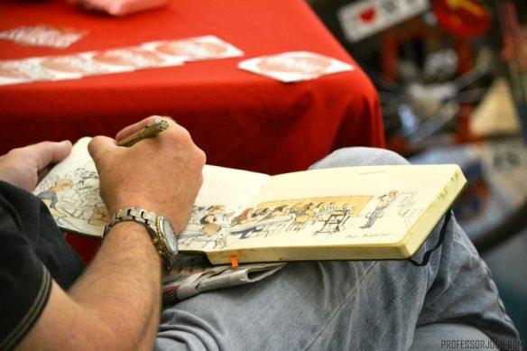 Sketch artist captures the conference keynote