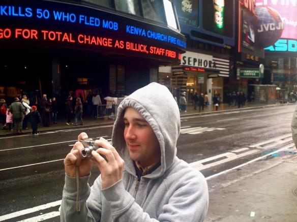 Ryan at Times Square