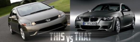 Honda-Civic-versus-BMW-3-Series-Coupe