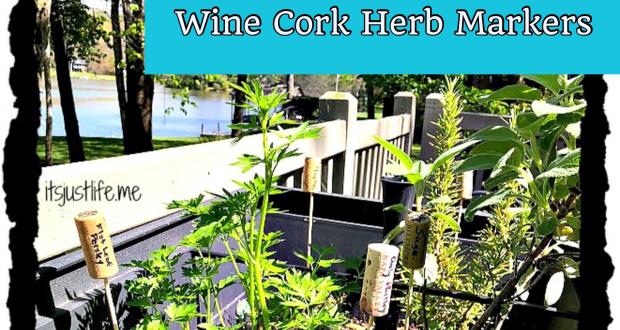 wine cork herb markers