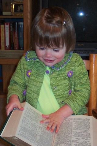 Abbye reading Shakespeare