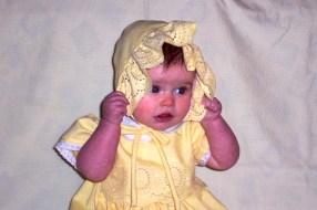 Abbye in yellow Bonnet