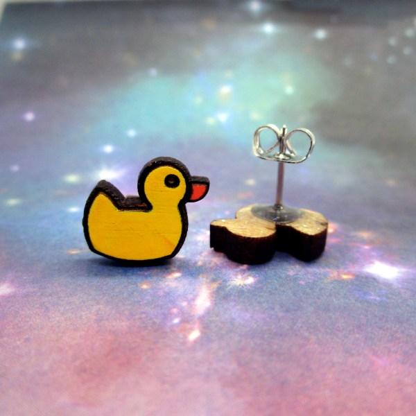 cute little rubber duck studs