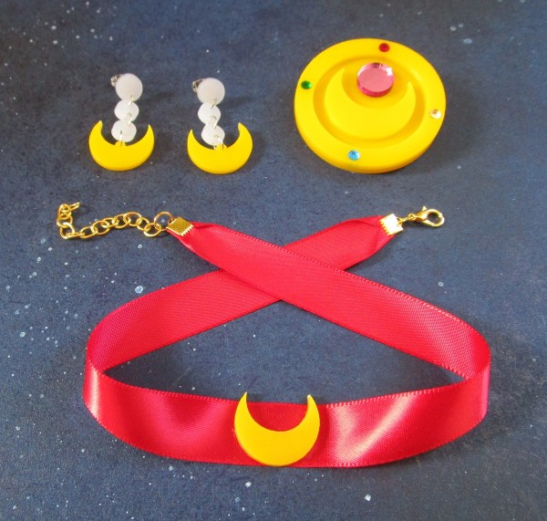 Sailor Moon Cosplay Necklace, Choker & Brooch Jewelry Set