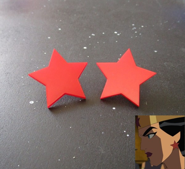 Wonder Woman Big Star Red Cosplay Stud Earrings
