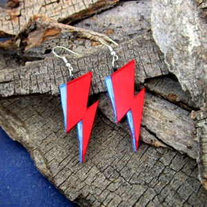 david bowie ziggy stardust dangle earrings