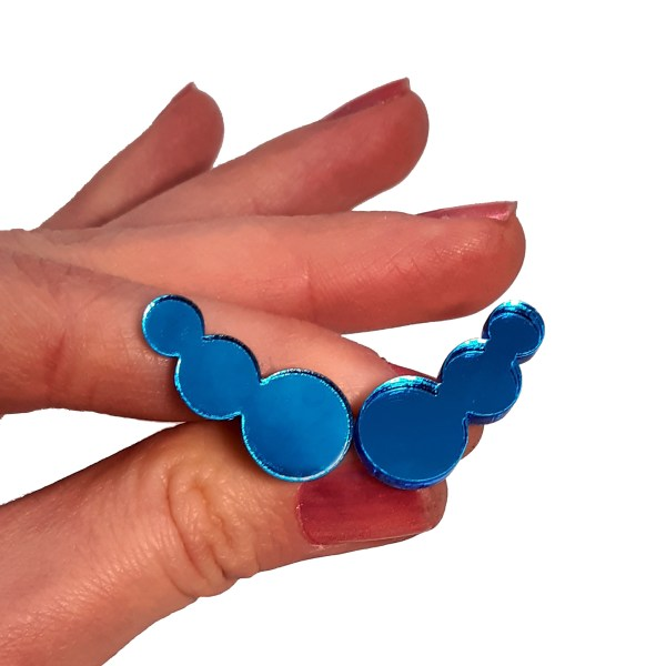 sailor mercury blue bubbles shiny blue cosplay stud earrings