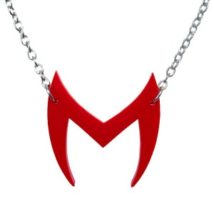 scarlet witch wanda maximoff marvel wandavision head costume red m shappe headdress cosplay pendant necklace