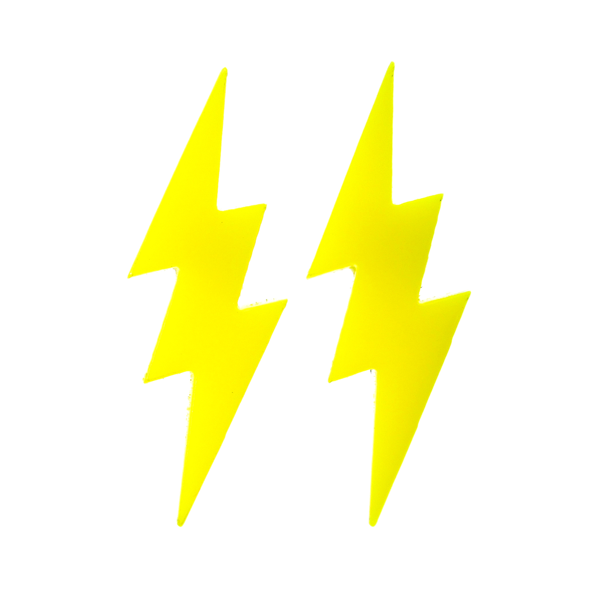 Yellow Lightning Bolt Stud Earrings It S Just So You