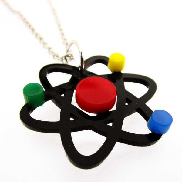 sid eview of atom necklace molecule science nerd necklace