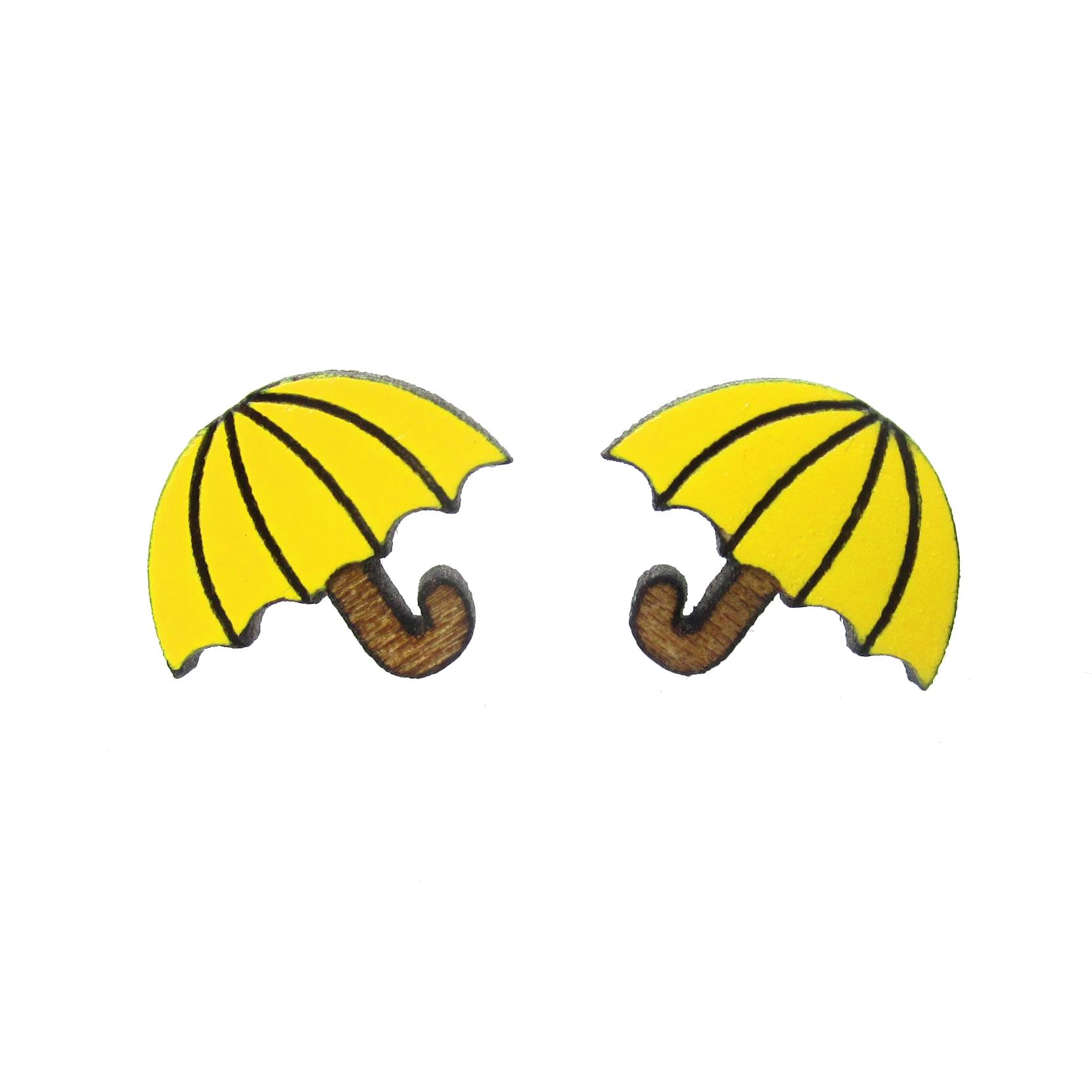 Tiny Umbrella Stud Earrings