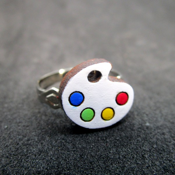 laser cut paint palette color ring adjustable size