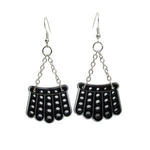 RBG Dissent Collar bib chain necklace black lace acrylic plastic chandalier dangle statement earrings jewelry