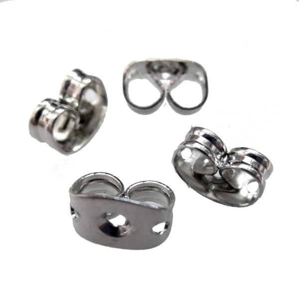 Push Friction Back Earring Nut Nickle free buttlerfly for stud posts