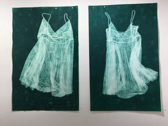 """Jessica's dress II"" (left) & ""Jessica's dress I"" (right)"