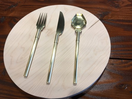 fork, knife & unique spoon